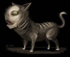 Demon cat by Zxoqwikl