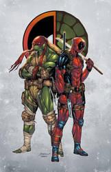 Raph and Deadpool  by Gay-san