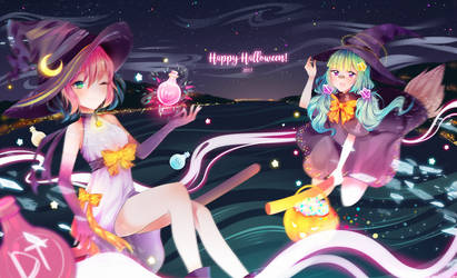 [Pippi and Mocha] Happy Halloween! by anyuuu
