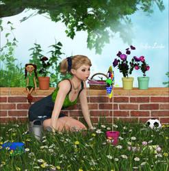 Fun In The Garden by Frollein-Zombie