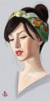 Timed Head Sketch 372 by FUNKYMONKEY1945