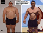 Before and after Workout by FUNKYMONKEY1945