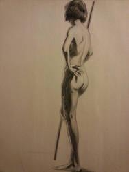 Long pose wkshp drawing Yuko by FUNKYMONKEY1945