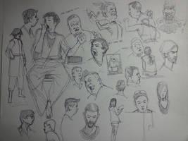 Scribbles by FUNKYMONKEY1945