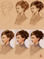 timed head sketch 1126 process by FUNKYMONKEY1945