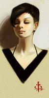 timed head sketch 1131 by FUNKYMONKEY1945