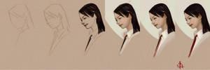 timed head sketch 1171 steps by FUNKYMONKEY1945
