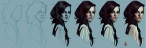 timed head sketch 1172 steps by FUNKYMONKEY1945