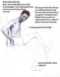 Bic Pen Drawing Demo ( Rockwell off his Rocker ) by FUNKYMONKEY1945