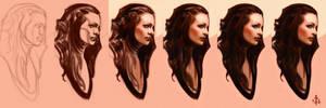 timed head sketch 1179 steps by FUNKYMONKEY1945