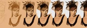 timed head sketch 1241 steps by FUNKYMONKEY1945