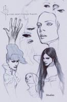 Sketches/studies by FUNKYMONKEY1945