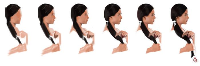 timed head sketch 1265 process by FUNKYMONKEY1945