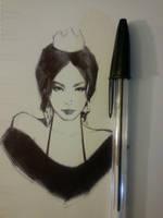 Sketch of Vanessa aka Stylechameleon by FUNKYMONKEY1945