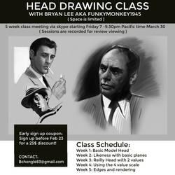 Online Head Painting Class by FUNKYMONKEY1945