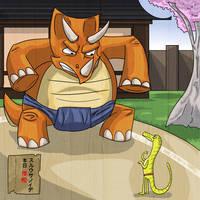Dinosaur Nihon 1- Sumo by ekillett