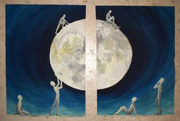 Exploring the Moon by AenagGaz