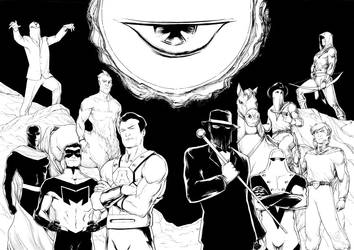 Centaur Heroes double commission by JM Minguez by CentaurChronicles