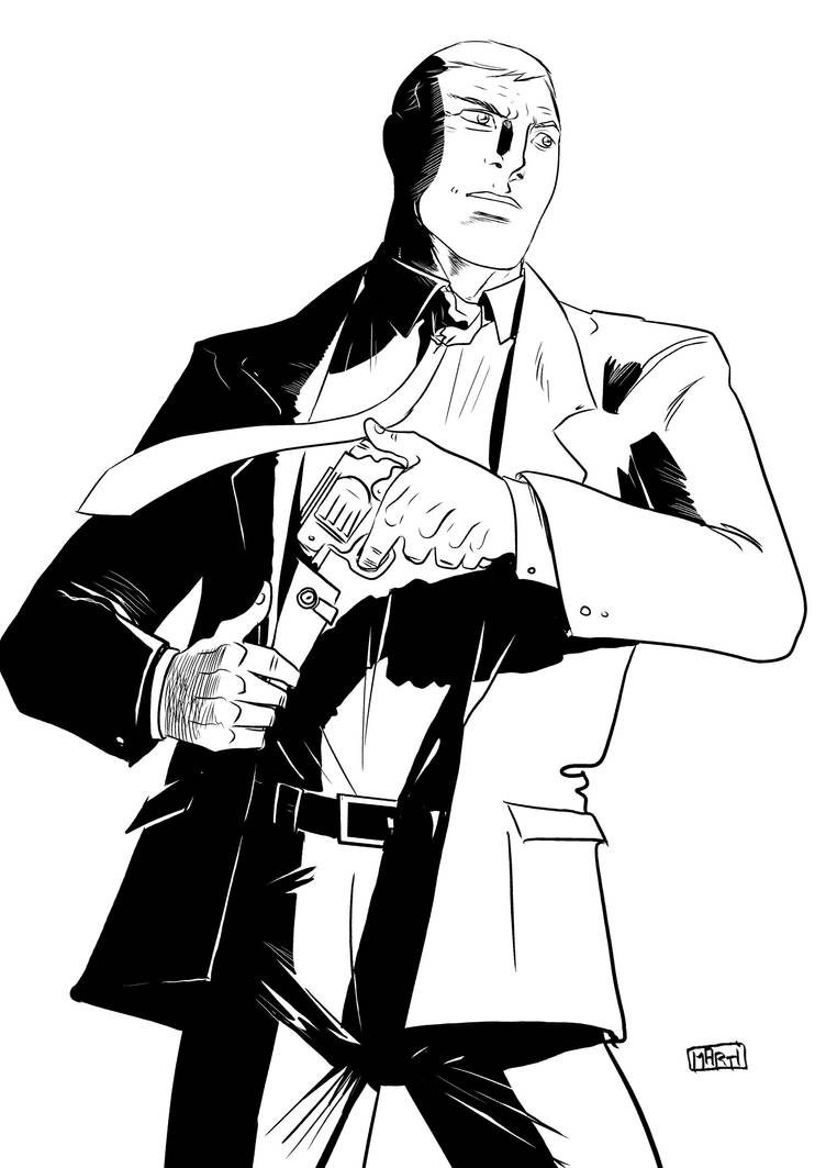 Jack Barrister pencils and ink by Marti by CentaurChronicles