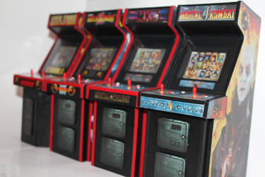 Mortal Kombat  Mini Arcade Cabs by gamgalien