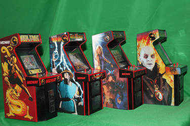 Mortal Kombat  Mini Arcade Cabs 6 by gamgalien