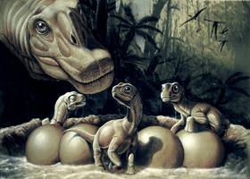 Nido de titanosaurios by Gonzalezaurus