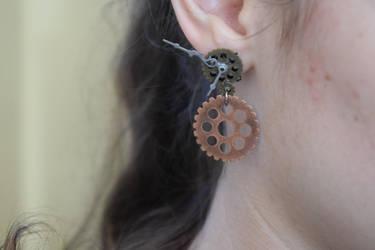 Steampunk Dangle Earrings by Gossamier