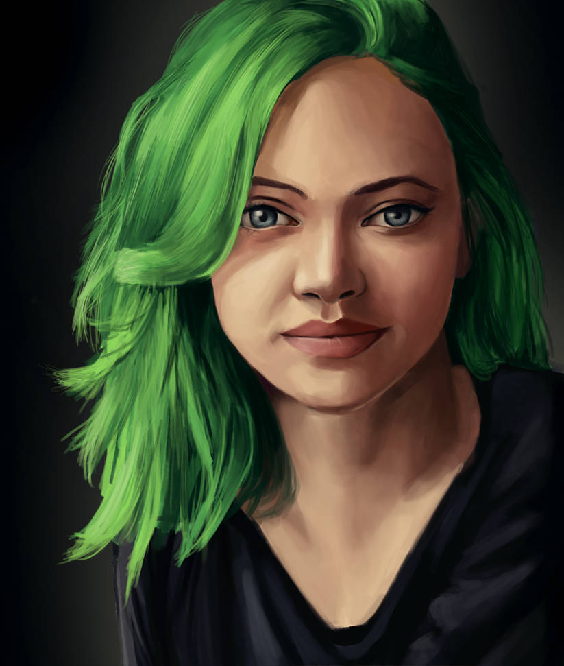 Green hair by NairaDNV