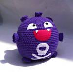Crochet Koffing Plush by ArtisansShadow