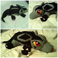 Crochet Mighyena Pattern Tutorial by ArtisansShadow