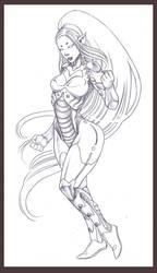 mech lady by Weird-zebra