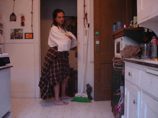 kilt in the kitchen by pexa-stock