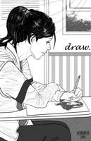 girl drawing by dylanliwanag