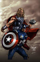 Mico Suayan Thor and Cap colors by dylanliwanag