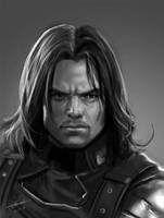 Cap Small The Winter Soldier portrait by dylanliwanag