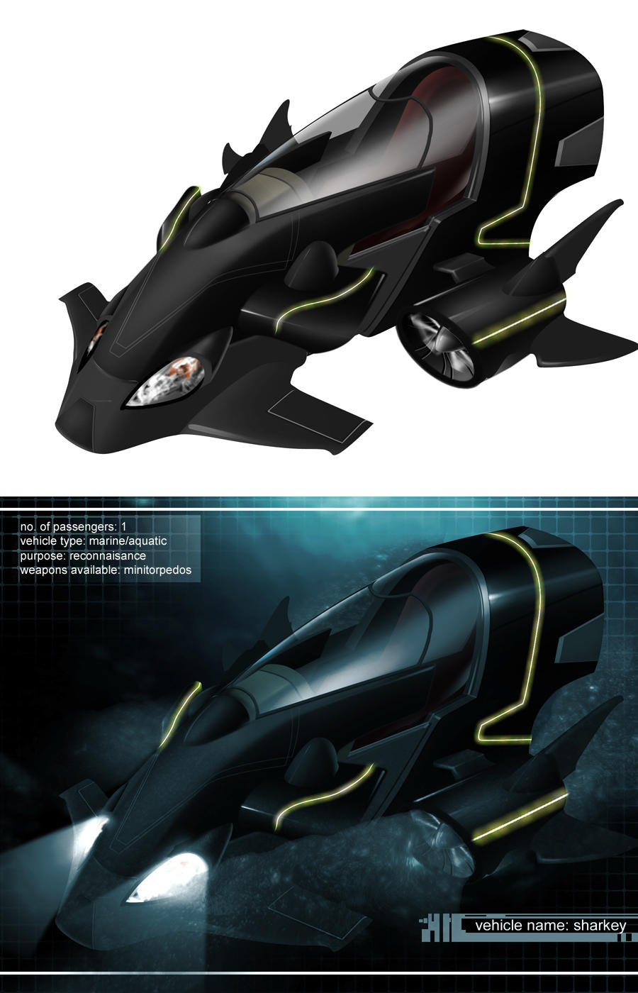 Sharkey vehicle design by dylanliwanag