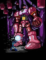 Megaman vs Sentinel by Moshman88