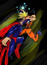Superman VS Goku by Moshman88
