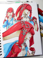 Mipha - sequence of images by AoiInji