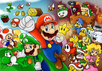 Super Mario Wallpaper by BoxBird