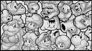 An awesome mushroom world!! by BoxBird