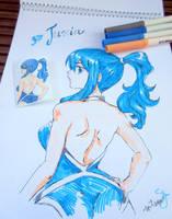 #Inktober : Juvia Lockser (colored) by bloodberi