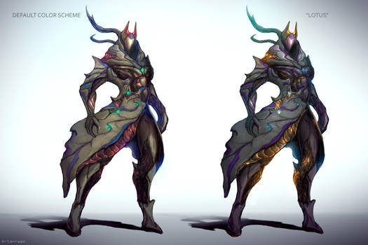 Egyptian Warframe design by Artarrwen