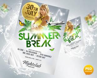 Summer Break Flyer PSD by Party-Flyer