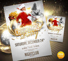 Christmas Party Flyer Template by Party-Flyer