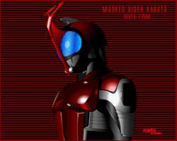 Kamen Rider Kabuto flashed by Dit-Haru