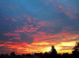 Fiery Sunset by OnlyMe722