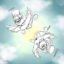 In the sky! by Nolhyaa