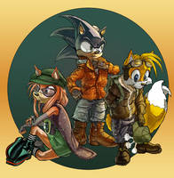 Sonic's Posse Color by mallaard