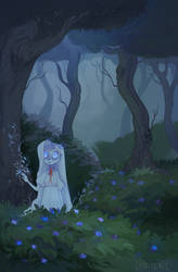 Where the Blue Flowers Bloom by lunaerie